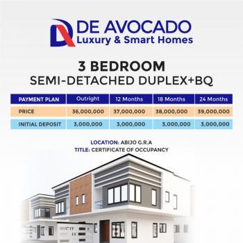 Luxury 3 Bedroom Semi Detached Duplex Plus Bq, De Avocado Luxury & Smart Homes Abijo Gra, Lekki, Lagos, Semi-detached Duplex for Sale