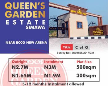 Estate Land with C of O, Near Rccg New Arena and Few Minutes From Ikeja, Simawa, Ogun, Residential Land for Sale