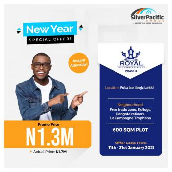 Land at Silver Pacific Homes, Folu, La Campagne Tropicana, Ibeju Lekki, Lagos, Residential Land for Sale