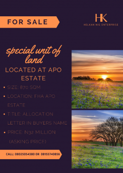 Special Unit of Land, Apo, Abuja, Residential Land for Sale