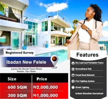 600 and 300 Sqm of Land, Felele, Ibadan, Oyo, Residential Land for Sale
