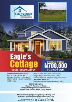 Affordable Land with Registered Survey, Eagles Heights Estate Ode Omi Community, Ibeju Lekki, Lagos, Residential Land for Sale