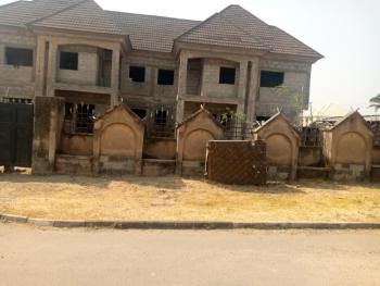 Carcass 4 Bedroom Twin Duplex with 1bed Bq Space, 69road, Gwarinpa, Abuja, Detached Duplex for Sale
