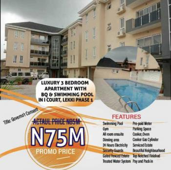 Luxury Finished 3 Bedroom Apartment + Bq with Impeccable Features, Lekki Phase 1, Lekki, Lagos, Block of Flats for Sale