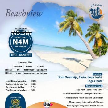 Direct Beach Side Estate at Ibeju Lekki, Solu Orunmija Village Eleko, Ibeju Lekki, Lagos, Mixed-use Land for Sale