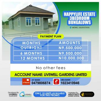 3 Bedroom Fully Detached Bungalows, Mowe Town, Ogun, Detached Bungalow for Sale