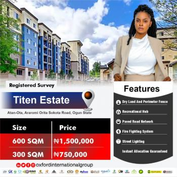 Land, Titen Estate, Atan Ota, Ado-odo/ota, Ogun, Residential Land for Sale
