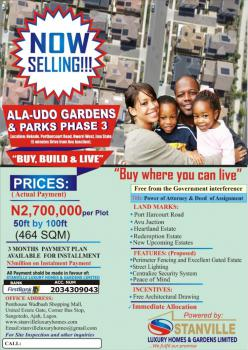Land with Deed, Ala Udo Gardens and Parks Phase 3, Nekede - P/h Road Owerri West, Nekede, Owerri Municipal, Imo, Commercial Land for Sale