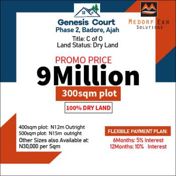 Land in a Well Developed Estate, in Well Developed Estate, Badore, Ajah, Lagos, Residential Land for Sale