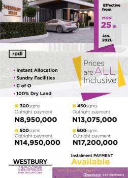 Westbury Homes Is Offering Something Great, Few Minutes Drive From Corona Schools, Bogije, Ibeju Lekki, Lagos, Residential Land for Sale