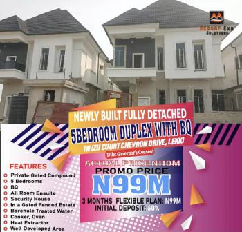 Newly Built Fully Detached 5 Bedroom Duplex with Bq at Izu Court, Chevron Drive, Lekki Phase 2, Lekki, Lagos, Detached Duplex for Sale