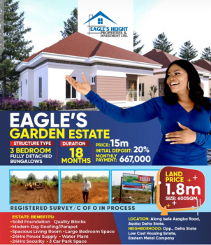 Plots of Land in Well Structured Estate, Isele  Azagba Road, Asaba, Delta, Residential Land for Sale