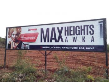 Plots of Land, Max Height, Nwagu Achalla, Awka North Lga, Awka, Anambra, Residential Land for Sale