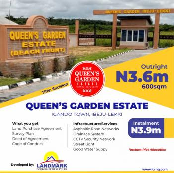 100% Dry Land with Good Title. Get Instant Allocation, Very Close to Amen Estate Along Victoria Island Proposed Road, Eleko, Ibeju Lekki, Lagos, Residential Land for Sale