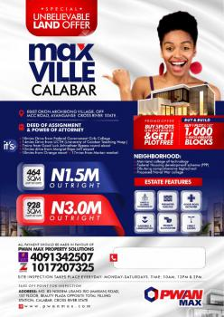 Land, Calabar, Cross River, Residential Land for Sale