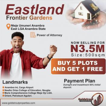 Land, Airport Road, Eastland Frontiers Garden, Nteje Umuneri, Anambra, Anambra, Residential Land for Sale