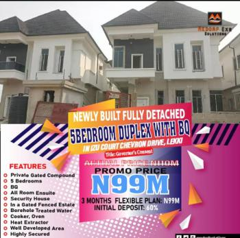 Well Built 5 Bedroom Fully Detached Duplex with Bq, Chevron Drive, Lekki, Lagos, House for Sale