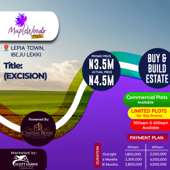 Maplewoods Forte, Lepia Town, Ibeju, Lagos, Mixed-use Land for Sale
