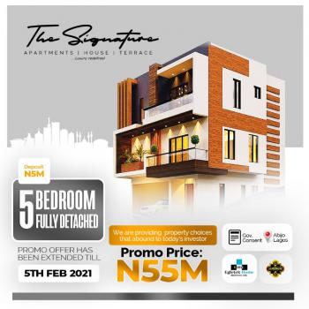 Luxury 5 Bedroom Fully Detached Duplex with Bq in Prime Location, The Signature Homes, Abijo, Lekki, Lagos, Detached Duplex for Sale