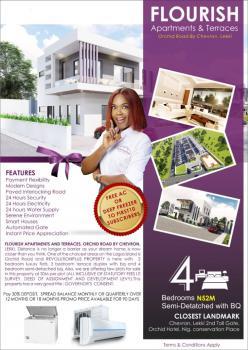 4 Bedrooms Semi Detached with Bq, Flourish Apartments and Terraces, Orchid Road, By Chevron, Lekki, Lagos, Semi-detached Duplex for Sale