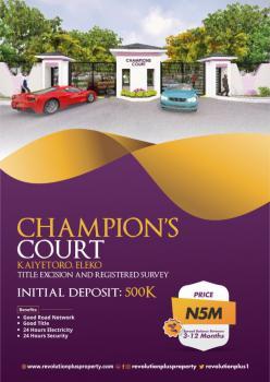 Estate Land, Kaiyetoro, Eleko, Ibeju Lekki, Lagos, Residential Land for Sale