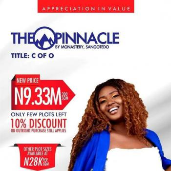 Certificate of Occupancy(c of O), The Pinnacle, Sangotedo, Ajah, Lagos, Mixed-use Land for Sale