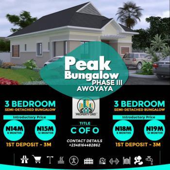 3 Bedroom En-suite Bungalow, Awoyaya, Sangotedo, Ajah, Lagos, Semi-detached Bungalow for Sale
