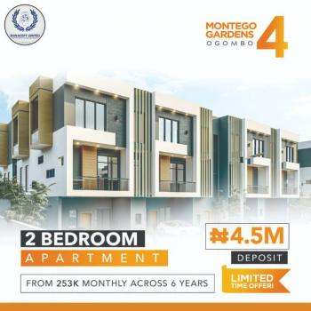Luxury 2 Bedroom Flat with Fitted Kitchen and Exquisite Finishing, Montego Gardens 4 Ogombo Road By Abraham Adesanya Estate, Ajah, Lagos, Flat / Apartment for Sale