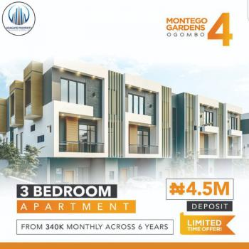 Luxury 3 Bedroom Apartment with Fitted Kitchen and Exquisite Finishing, Montego Gardens 4 Ogombo Road By Abraham Adesanya Estate, Ajah, Lagos, Flat for Sale