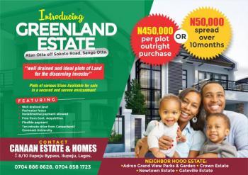 Various Plots of Land, Off Sokoto Road  Greenland Estate, Atan Ota, Ado-odo/ota, Ogun, Residential Land for Sale