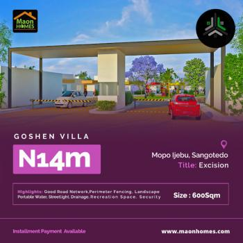 Goshen Villa Estate Residential Land Behind Shoprite Sangotedo, Goshen Villa Estate, Mopo, Ijebu Village, Sangotedo, Ajah, Lagos, Residential Land for Sale