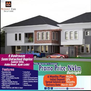 4 Bedroom Semi Detached Duplex, Badore, Ajah, Lagos, Semi-detached Bungalow for Sale