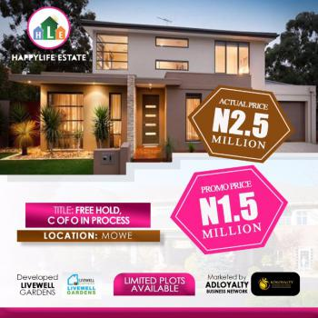 Land, Happy Life Estate Opposite Christopher University, Beside Rccg Youth Camp, Mowe Ofada, Ogun, Residential Land for Sale