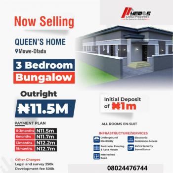 3 Bedroom Bungalow, Mowe Ofada, Ogun, Semi-detached Bungalow for Sale