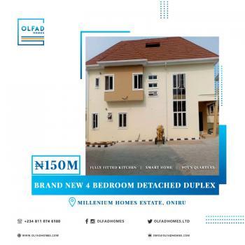 Brand New 4 Bedrooms Detached Duplex, Millennium Estate, Oniru, Victoria Island (vi), Lagos, Detached Duplex for Sale