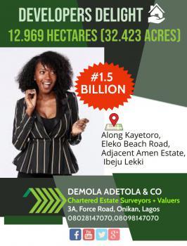 12.9 Hectares of Land, Eleko Beach Road, Eleko, Ibeju Lekki, Lagos, Land for Sale