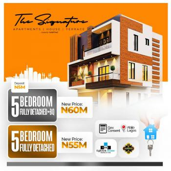 5 Bedroom Fully Detached with Bq, Sunday Ejiofor Street, Green Park Scheme Opposite Corona School, Abijo, Lekki, Lagos, Detached Duplex for Sale