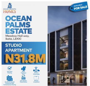 1 Bedroom Studio Apartment, Ocean Palms Estate, Lekki, Lagos, Block of Flats for Sale