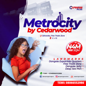 Metrocity By Cedarwood (c of O), Metrocity By Cedarwood, Oshoroko, Free Trade Zone, Ibeju Lekki, Lagos, Mixed-use Land for Sale