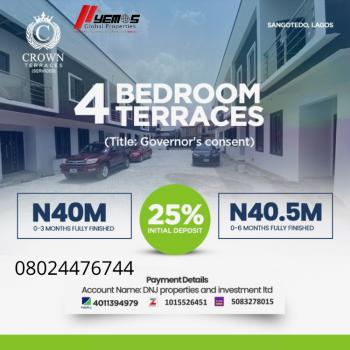 4 Bedroom Terrace, Vintage Estate, Sangotedo, Ajah, Lagos, Terraced Duplex for Sale