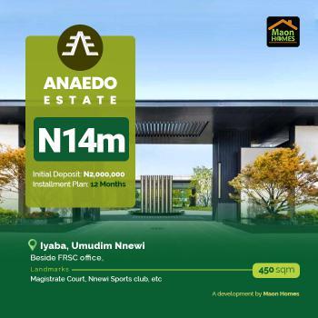 Land, Anaedo Estate, Umudim Nnewi Beside Frsc Office, Nnewi, Anambra, Residential Land for Sale