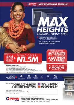 Land, Max Height Estate, Izzi, Abakaliki, Ebonyi, Land for Sale