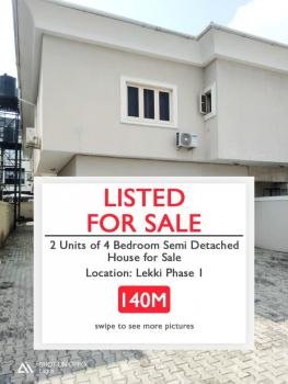 Commercial and Residential 4 Bedroom Semi-detached House, Lekki Phase 1, Lekki, Lagos, Semi-detached Duplex for Sale