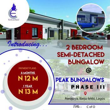 Peak Bungalows Phase 3, Behind Mayfair Gardens Awoyaya, Awoyaya, Ibeju Lekki, Lagos, Semi-detached Bungalow for Sale
