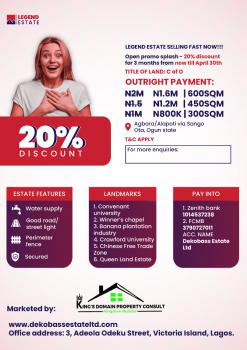 Legend Estate, Agbara, Ado-odo/ota, Ogun, Residential Land for Sale
