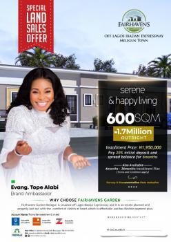 Plot of Land, Lagos Ibadan Express Road at Malegun Town Opposite New Makun City Opic, Km 46, Ogun, Residential Land for Sale