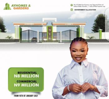 Affordable Govt Approved Land Facing The Road, Ay Homes & Gardens, Abule Foli, Lekki - Epe Expressway, Eluju, Ibeju Lekki, Lagos, Mixed-use Land for Sale