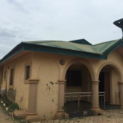 3 Bedroom Flat with 2 Bedroom Bq on One and Half Plots of Land with Borehole, Interlocking and Pop. with Deed of Assignment., Sango Area, Ilorin East, Kwara, Self Contained Flat for Sale