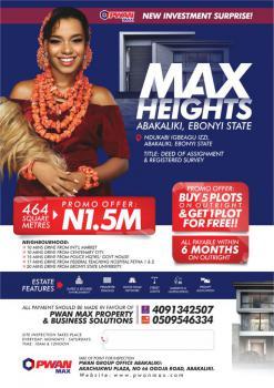 Plots of Land, Max Height, Ndukabi Igbeagu Izzi, Abakaliki, Ebonyi, Mixed-use Land for Sale