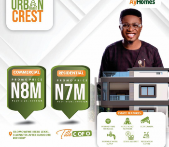 Cheapest Govt. Approved C of O Land, Facing The Road, Urban Crest Estate, Olomowewe, Lekki Free Trade Zone, Lekki, Lagos, Mixed-use Land for Sale